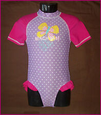 Baby Sunsuit RASHSUIT Sz 00 0 1 2 3 SWIMWEAR BATHERS Togs PINK & PURPLE Rash NEW