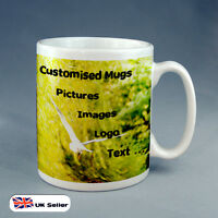 10 X BRAND NEW PERSONALISED CUSTOM GIFT  MUG YOUR IMAGE PHOTO LOGO OR TEXT