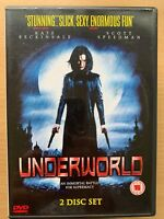 Kate Beckinsale UNDERWORLD ~ 2003 Cult Werewolf Vs Vampire Horror  2-Disc UK DVD