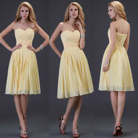 Mini Chiffon Evening Formal Party Ball Gown Prom Bridesmaid Dress6 8 10 12 14 16