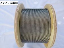 200m Stainless Gr.316  Wire Rope - Cable - Balustrade - Marine - 3.2mm - 7 x 7