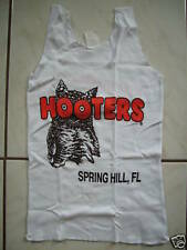 NEW HOOTERS GRAB BAG SEXY AUTHENTIC WHITE UNIFORM TANK TOP FLORIDA SIZE XS/S/M/L