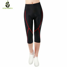 New Women's Cycling Bicycle Bike Sports Shorts 3D Padded 3/4 Pants Tights S-XL