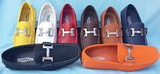 MEN GIOVANNI DRESS LOAFER FAUX LEATHER CASUAL STYLE SLIP-ON MEDIUM (D,M) SOLID