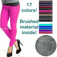 Womens Knitted Thick Leggings Fleece Lined Warm Winter Pants Thermal One Size