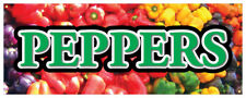 Bell Peppers Banner Fresh Vegetable Organic Green Concession Stand Sign 24x72