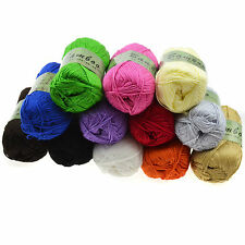 Soft Fingering Durable Natural Bamboo Cotton Knitting Yarn Crochet Cotton Bamboo
