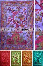 6Colour TREE OF LIFE Hippy THROW Sofa BEDSPREAD Wall hanging SINGLE uk Supplier