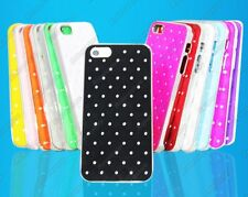 iPHONE 5 / 5s Quilted Rhinestone Design Fitted Protective Shell Cover Case