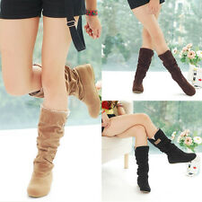Sexy Fashion Autumn Winter Womens Boots Lace Cuff Increased Internal Heel Shoes
