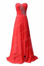 Red XMAS Party Cocktail Long Evening Dress Bridesmaid Gown Prom Homecoming dress