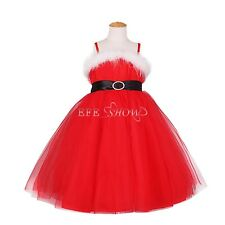 Toddler Flower Girls Dress Wedding Party Pageant Christmas Tulle Dress Sz 2T-8