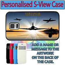 PERSONALISED WW2 FIGHTERS SAMSUNG GALAXY S VIEW FLIP CASE SH284