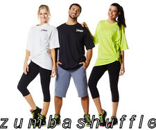 ZUMBA FITNESS Ready To Party Tee GREEN BLACK WHITE T-shirt - NEW!!!