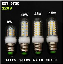 Lampadina led E27 E14 smd 5730 led lamp bulb 9w 12w 15w 18w 25w cold warm 10 PCS