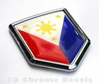 Philippine Flag Philippinian Car Auto Chrome Emblem 3D Decal Bumper Sticker