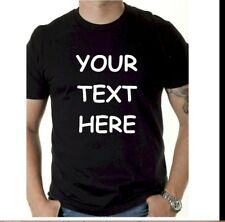 Custom Personalized T Shirt - Put Your TEXT - print what U want