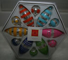 Isaac Mizrahi Target Christmas Holiday Ornament Collection Brights Set of 12