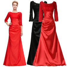 PLUS SIZE RED Long Evening Formal Wedding Bridesmaid Ball Gown Prom Party Dress