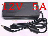 AC 100V-240V Converter Adapter DC 12V 5A 60W Power Supply Charger DC 5.5mm New
