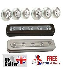 Stick on LED Lights display cabinets closets under stair bedroom car boot push