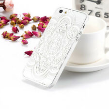 1PC Pretty Nice Hollow Henna Feather Skin Case Floral Cover for iPhone 5 5S 6