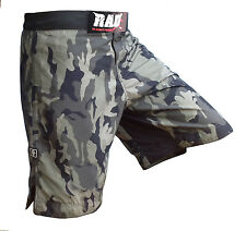 2Fit Camo MMA Fight Shorts Green Camouflage UFC Cage Fight Grappling Boxing New