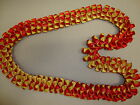 Grad Wedding Beautiful Hawaiian Two Sided Red & Yellow Ribbon Lei