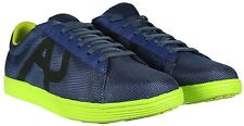 Armani Jeans Tennis Shoes in Blue and Lime