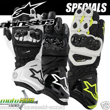 Alpinestars GP Pro Motorcycle Leather Gloves Road Bike Racing Riding Track