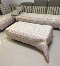 Quilted and Lace Custom Sectional Sofa Couch Slipcovers Furniture Protector