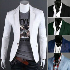 2015 New Stylish Men's Casual Slim Fit One Button Suit Blazer Coat Jacket Tops