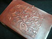 GODDESS Pagan Wicca Leather Journal Book of Shadows Grimoire Diary - Handmade