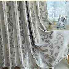 QUALITY BLOCKOUT EYELET CURTAINS Gold Silver Grey Beige Cream