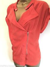 KAREN MILLEN Orange Soft Shirt Smart Casual Summer Blouse Top Size Ladies 10 UK