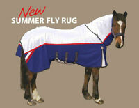 GEE TAC HORSE ULTIMATE SWEETITCH  NO JOIN FLY COMBO RUG UV RATED WHITE