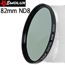 EMOLUX Neutral Density 62-82mm ND8 LEN Filter For Nikon Canon Tamaron SLR
