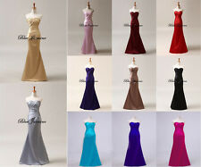 Hot Sale Stock Satin Bridesmaid Prom Dress Party Gown Cocktail Evening Dresses