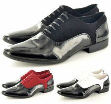 Mens Formal Shoes, Black Red White Casual Shoes EU & UK 6 7 8 9 10 11 New
