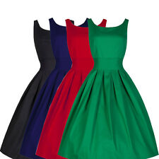 Women Vintage Rockabilly 50s 60s Retro Pinup Swing Cocktail Party Evening Dress