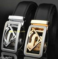New Genuine Leather Belts for superman lover with Automatic  Buckle 31~33〃