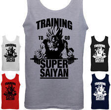 Training To Go Super Saiyan - Mens Gym Vest Training Dragon Ball Z Fitness