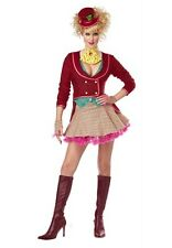 The Mad Hatter Costume Party Fancy Dress Jacket Vest Skirt Glovelettes Tie Hat