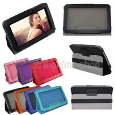 """For Universal Android Tablet 7"""" 8"""" 7.85"""" 9"""" 10/10.1"""" Leather Case Stand Cover UK"""