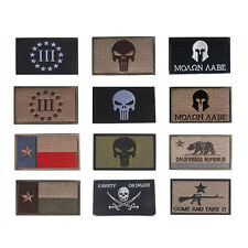 PUNISHER SKULL SHIELD TACTICAL ARMY MILITARY US ARMY MORALE DESERT VELCRO PATCH