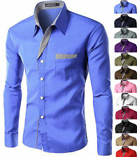 Camicia Uomo maniche lunghe Fashion SLim-Fitc126 Shirt Men 12 COLORS BEST PRICE!