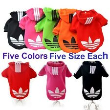 Cute Lovely Dog Puppy Clothes Hoodie Sweater Costumes Coat Soft Cotton Clothes