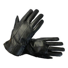 Womens Gloves Black Genuine Leather Driving Winter Comfortable Warm Lining New