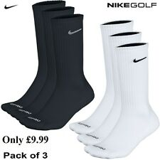 Nike Dri - Fit Crew Sports Sock 3 Pack Only £9.99 Golf, Running & Walking Socks