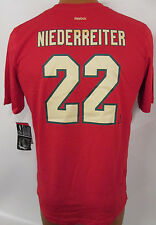 Nino Niederreiter Minnesota Wild Red Reebok T-Shirt - #22 - Boys S, M, L or XL